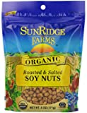 Sunridge Farms Organic Dry Roasted Salted Soynuts, 6-Ounce Bags (Pack of 12)