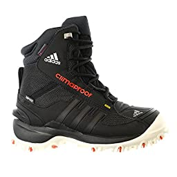 adidas Outdoor Kids Unisex Terrex Conrax CP CH (Little Kid/Big Kid) Black/Chalk White/Bold Orange Boot 7 Big Kid M