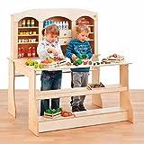 Erzi-Kaufladen-Verkaufsstand-Verkaufsregal-Kinderspielzeug-gro