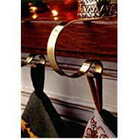MantleClip Christmas Stocking Holders - Brass (set of 4)