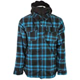 686 Reserved Axxe Flannel Insulated Snowboard Jacket Bluebird Plaid Mens by 686