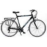 "28"" Trekkingbike Herrenfahrrad Aluminium 24-Gang Beleuchtung Nabendynamo Felgenbremse Gelsattel RH 60cm"
