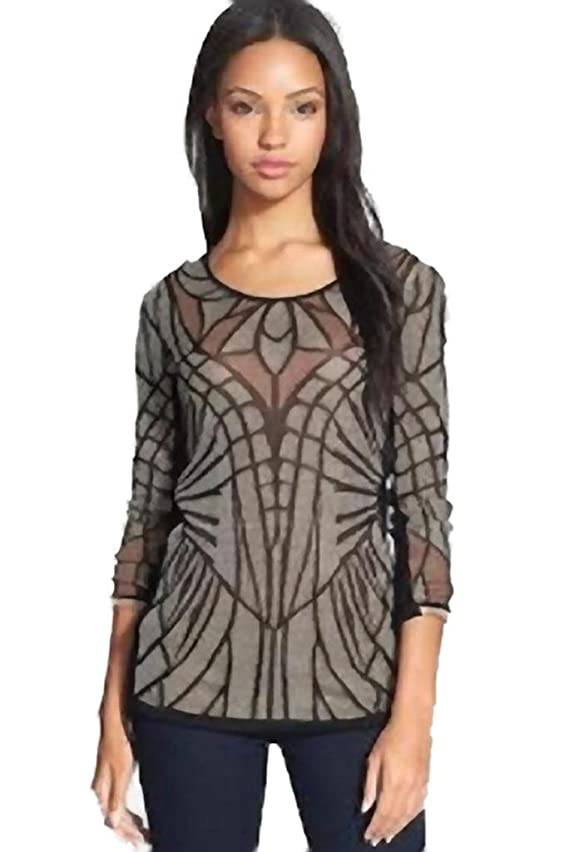 NIC ZOE Glass Windows Knit Top Multi