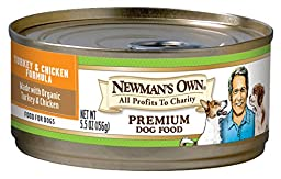 Newman\'s Own Turkey & Chicken Formula for Puppies & Active Dogs, 5.5-Ounce Cans (Pack of 24)