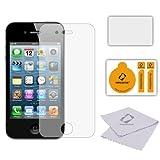 6 x Membrane Protectores de Pantalla para Apple iPhone 4 / 4S / 4GS - Ultra Transparente (Invisible), Láminas de protección, Embalaje original y accesorios
