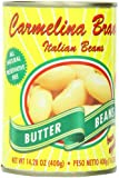 Carmelina Brands Italian Bianchi Di Spagna Beans, Butter Beans, 14.28 Ounce (Pack of 12)