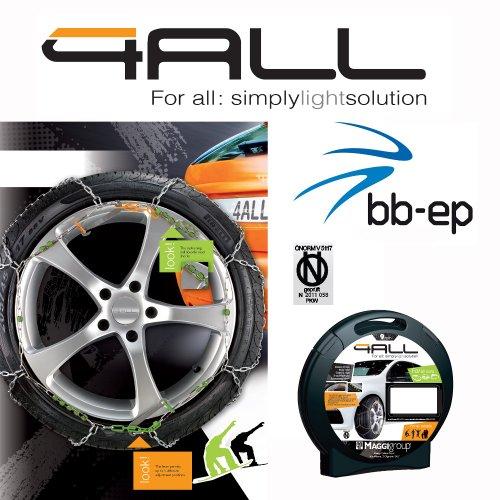 Standard Spurkreuz Schneekette Maggi 4ALL für PKW mit der Reifengröße 195/60 R15 einfache Montage durch Polymer-Kugeln und Spannhebel - kein China Import natürlich Geprüft und mit Ö-Norm