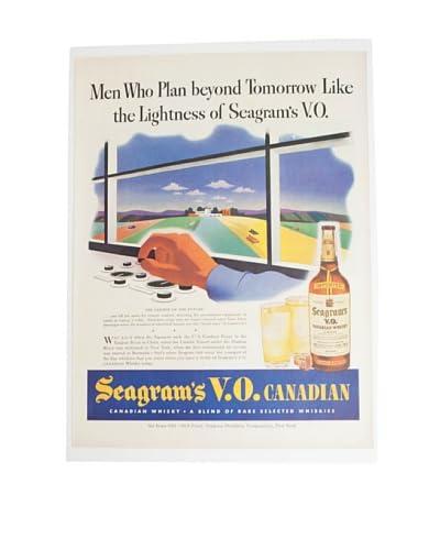Vintage Circa 1960 Seagram's Whiskey V.O. Ad As You See