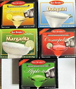Lemon Drop, Apple-tini, Cosmopolitan, Daiquiri & Margarita Cocktail Mix...40 pkgs.