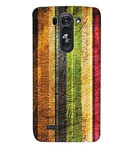 ColourCraft Colourful Bars Design Back Case Cover for LG G3 S