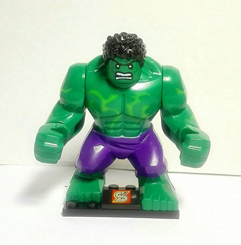 costruzioni-compatibili-blocks-minifigure-hulk-green-giant-big-seize-hulk-verde-marvel-super-heroes-