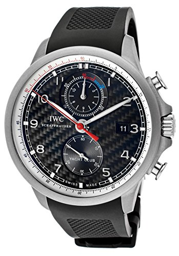 IWC PORTUGUESE YACHT CLUB IW390212 GENTS BLACK RUBBER TITANIUM CASE DATE WATCH