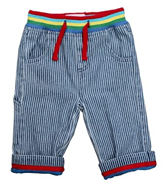 Toby Tiger Stripe with Drawstring Baby Jeans Blue/White 12 Months