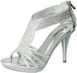 Delicacy Womens Delicacy-07 Dressy Pumps Sandals,Silver,5