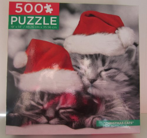 "Black & White ""Christmas Cats"" Keith Kimberlin 500 Piece Puzzle"