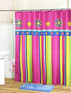 spanish style striped curtains extra wide fabric shower curtain bath curtains