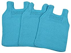 Kuchipoo Hand Knitted Kids Vest Winter Innerwear for Babies- Pack of 3 (6 to 12 Months)