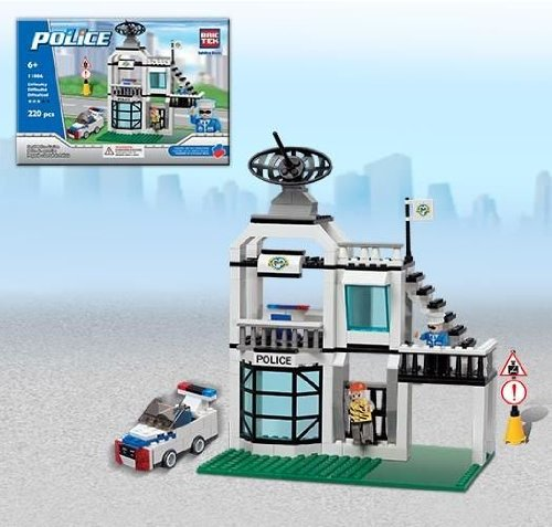Brictek Small Police Station Building Kit