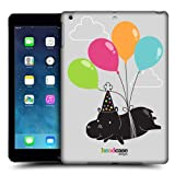 Head Case Designs Balloon Lover Hippo Party Animals Protective Snap-on Hard Back Case Cover for Apple iPad Air