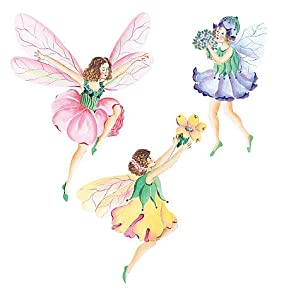 flower fairy prepasted wallpaper cutouts amazon co uk