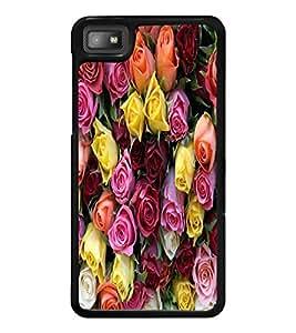 PrintDhaba Roses D-3869 Back Case Cover for BLACKBERRY Z10 (Multi-Coloured)