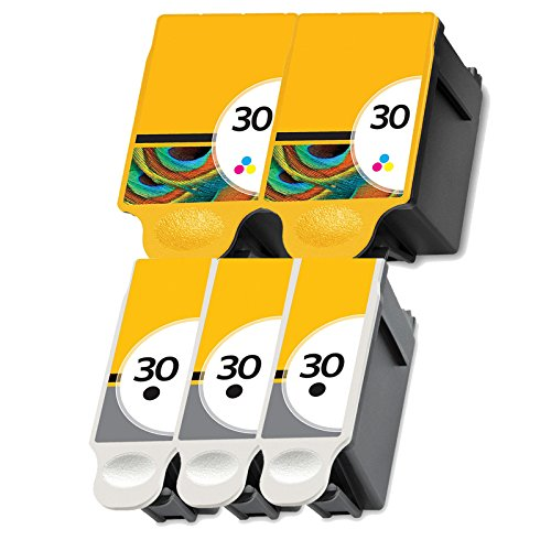 5 Kodak 30xl Ink Printer Cartridges Set for ESP 310 C315 2150 2170 Hero 3.1 5.1