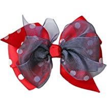 Posies Accessories Big Hair Bow Red Polka Dot Collection