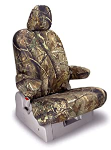 Shear Comfort Custom Plymouth Voyager Seat Covers - REAR SEAT SET: Low Back Quad Buckets w/ Adjustable Headrests and Dual Arms (1996-2000) - Realtree Camo AP