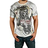 REMETEE by Affliction Ace is High Skull Vintage Mens T-Shirt Tee