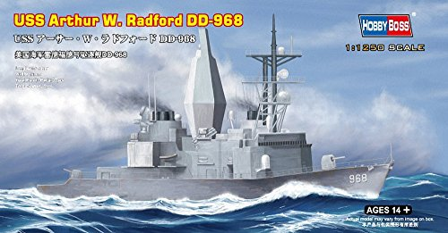 Hobby Boss USS Arthur W Radford DD-968 Boat Model Building Kit - 1