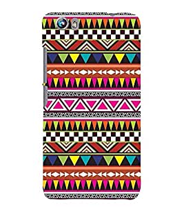 Printvisa Ethnic Multicoloured Pattern Back Case Cover for Micromax Canvas Fire 4 A107