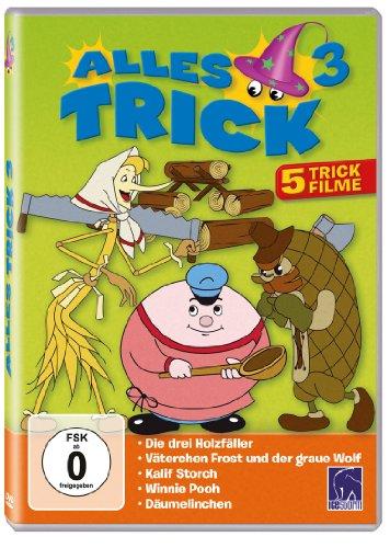 Alles Trick 3 ( 5 Trickfilme: Die drei Holzfäller - Väterchen Frost und der graue Wolf - Kalif Storch/Die Verwandlung des Kalifen - Winnie Pooh - Däumelinchen ) hier kaufen
