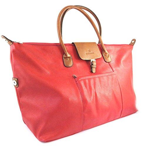 Travel bag 'Hexagona'rosso (60x35x20 cm).
