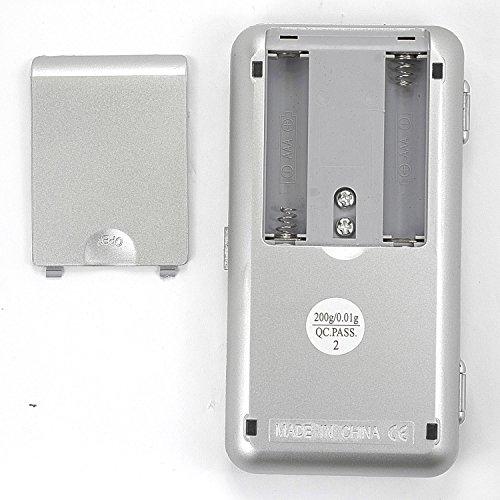 SAVFY® 0.01g-200g Mini Balance de poche/Balance de précision numérique digitale avec écran LCD et rétroéclairage