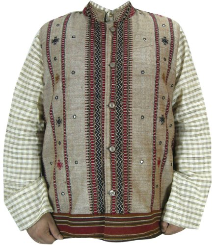 Traditional Woolen Mens Jacket Outerwear Vest India Clothes