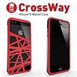 Felix iPhone5/iPhone5s専用ケース Felix CrossWay マネークリップ ブラック/レッド FB103-BKRD