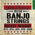 Dunlop DJN1236 Banjo Strings, Nickel, Irish Tenor, .012-.036, 4 Strings/Set by Dunlop