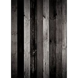 Photography Weathered Faux Wood Floor Drop Background Mat Cf2747 Rubber Backing, 4\'x5\' High Quality Printing, Roll up for Easy Storage Photo Prop Carpet Mat (Can Be Used for Decorating Home Also)