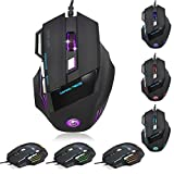 Lary intel 5500 DPI 7D LED Optical USB Wired Gaming PRO Mouse Mice For PC Laptop