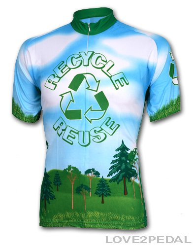 Image of World Jersey's Recycle Short Sleeve Cycling Jersey (B00436GZ9C)