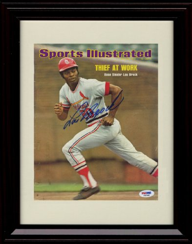 Framed Lou Brock Sports Illustrated Autograph Print - 7/22/1974 - St. Louis Cardinals at Amazon.com