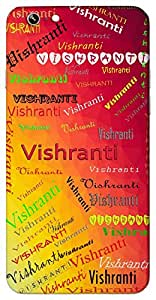 Vishranti (Rest, relaxation) Name & Sign Printed All over customize & Personalized!! Protective back cover for your Smart Phone : Moto X-STYLE