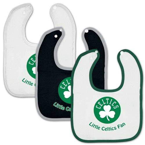 Boston Celtics Official Nba Infant One Size Baby Bib Set front-952680
