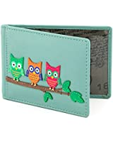 Owl Applique Leather Oyster Card / Travel Pass Holder by 1642 - More Colours Available