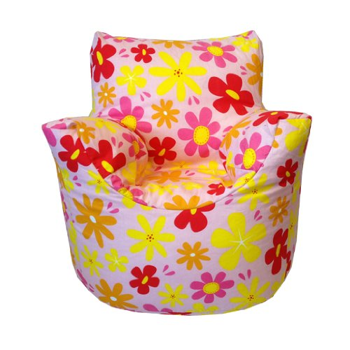 Childrens Bean Chair in Flowers Design, Available in Various Childrens Designs