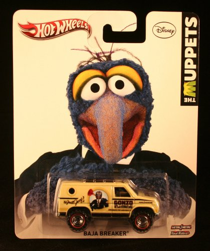 Hot Wheels 2013 Pop Culture - The Muppets Gonzo Baja Breaker - Tan w Real Riders X8321