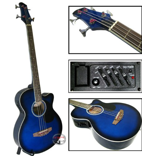 New Electric Acoustic Bass Guitar W/ Equalizer & Accessories