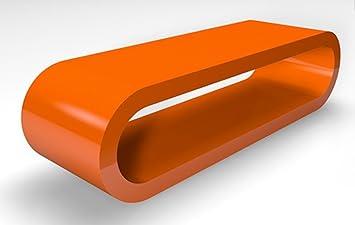 Cerceau de Style Rétro Grosse Orange Table de Café de Haute Brillance / Meuble TV Largeur de 110cm