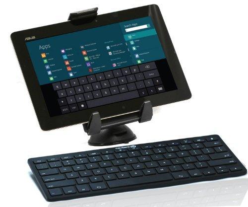 Navitech Tablet Pc Desktop Kit Including Black Wireless Windows Bluetooth Keyboard & Universal Mount Stand For The Lenovo Miix 10 / Lenovo Miix 2 8 / 10 / 11 / Lenovo Thinkpad Tablet 2 / Lenovo Ideatab Lynx