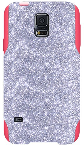 OtterBox Commuter Series Case for Galaxy S5 - Custom Glitter Case for Galaxy S5 - Silver/Pink (Custom Otterbox S5 compare prices)